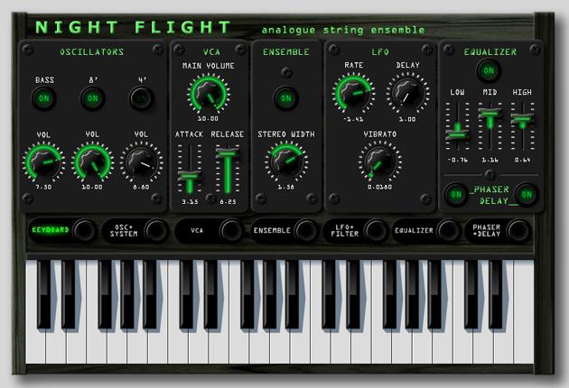Night Flight Analogue String Ensemble Synthesizer