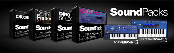 Free Supernova Sound Packs for MiniNova and UltraNova by Novation