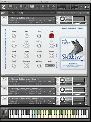 Outdoor Skating - Male SFX-Instruments Kontakt Library