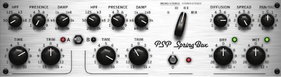 SpringBox Reverb Effect VST/AU Plugin by PSP Audioware
