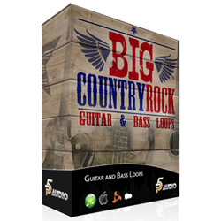 Big Country Rock Guitar and Bass Loops