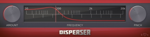 Disperser Phase Rotator VST/AU Plugin by kiloHearts