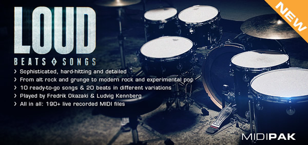 Loud Beats and Songs MIDI Pak for Addictive Drums