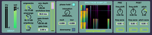 Spectrum Sampler - Max for Live Device by Amazing Noises