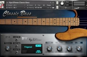 Classic Bass Sample Library for NI Kontakt by Ilya Efimov