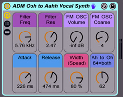 Ohh to Ahh Vocal Synth - Free Ableton Pack by Afro DJ Mac