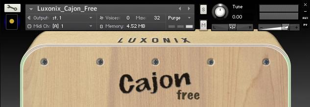 Cajon - Free Kontakt Sample Library and Soundfont by Luxonix
