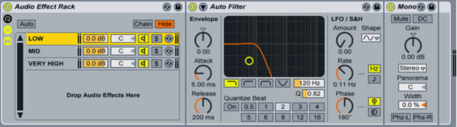 Ableton Audio Effect Rack