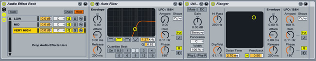 Auto Filter Ableton Rack