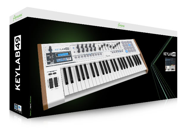 keylab midi keyboard controller series released by arturia. Black Bedroom Furniture Sets. Home Design Ideas