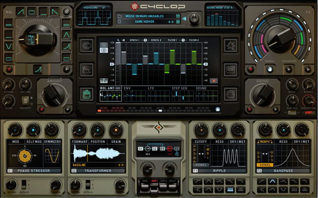 Buy Cyclop Virtual Synth Instrument by Sugar Bytes - Review
