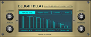 Delight Delay Free Effect for NI Reaktor by Boscomac