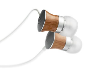 handcrafted earphones from wood