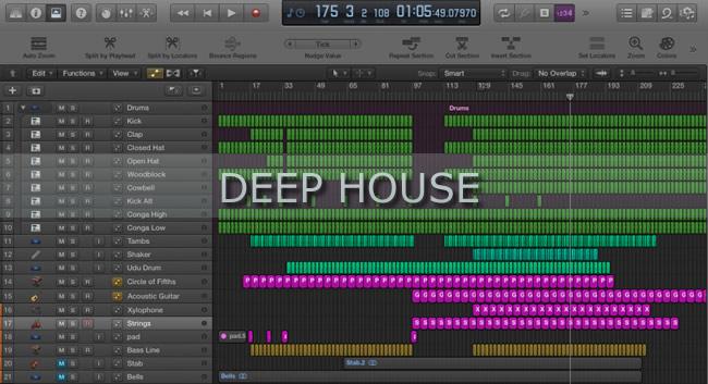 Logic pro deep house project