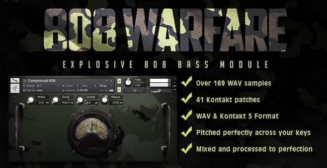 808 Warfare Kontakt Drum Samples