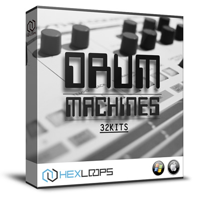 machine drum hits 32 drum kits sample pack by hex loops. Black Bedroom Furniture Sets. Home Design Ideas