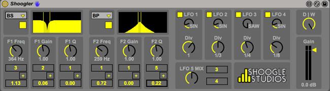 Shoogler Max for Live Dub Filter