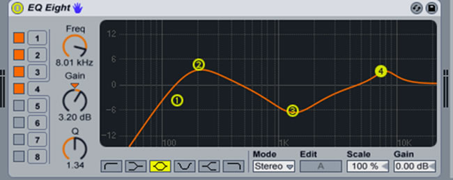 EQ-ing Hi Hats in Ableton