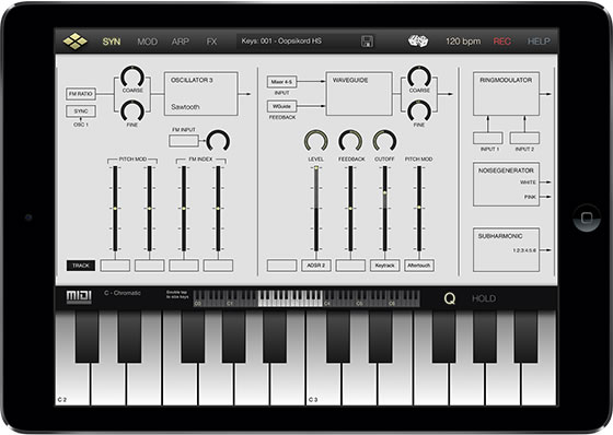 Virtual Analog Synth App for iPad