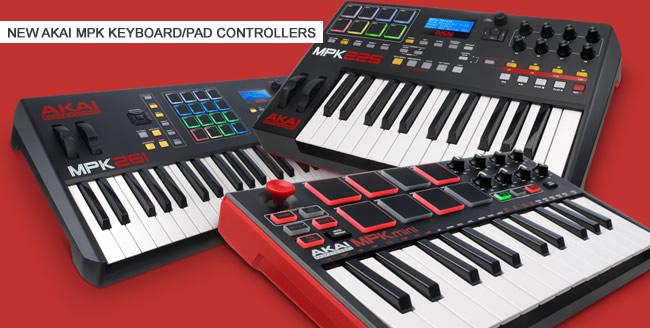 New AKAI Mpk Keyboard Pad Controllers
