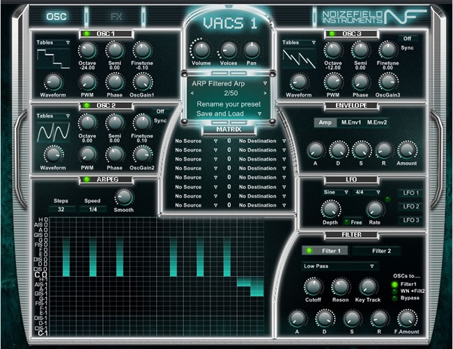 VACS Free VST Synth Plugin