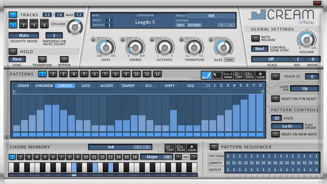 Cream MIDI Arpeggiator