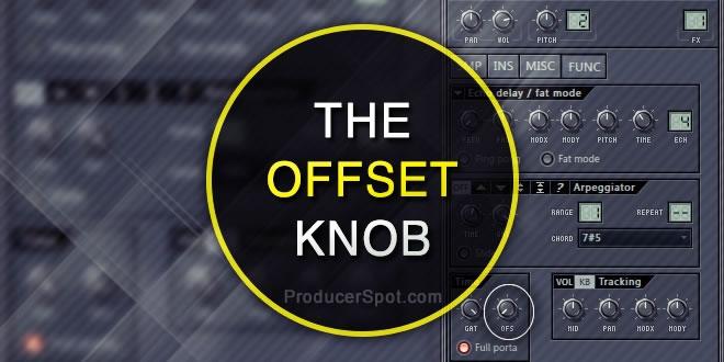 FL Studio Offset Button