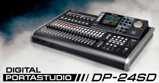 TASCAM DP-24SD Digital Portastudio
