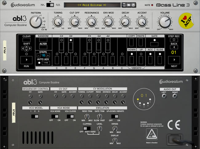 ABL3 Bassline Reason Rack Extension