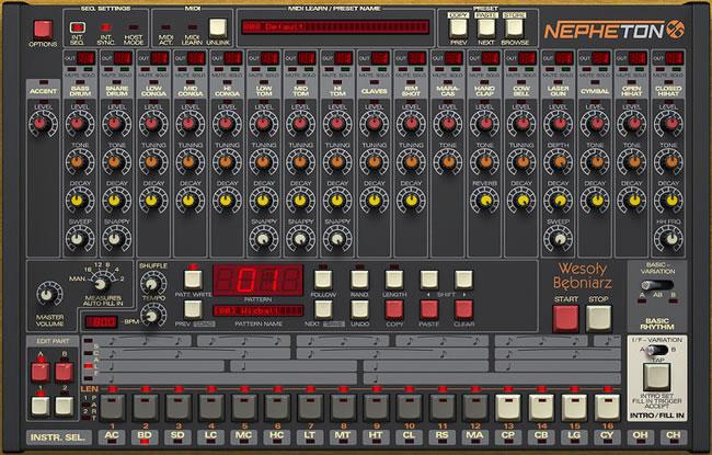808 Drum Machine VST Plugin