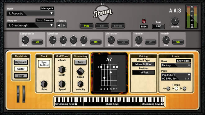strum gs 2 virtual guitar instrument plugin by aas. Black Bedroom Furniture Sets. Home Design Ideas
