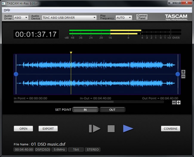 Hi-Res Editor by Tascam