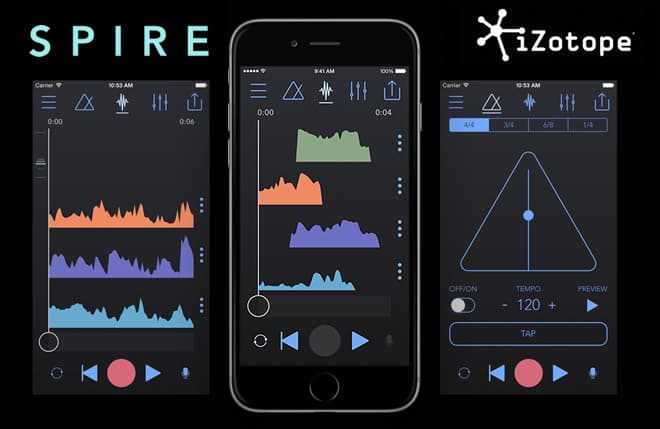 Spire 4 Track Recorder Ios App By Izotope on simple audio limiter