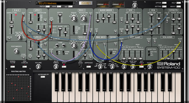 Roland SYSTEM-100 Synth Plugin