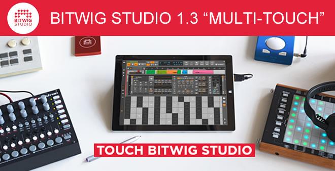 Bitwig Studio 1.3 Multi-Touch