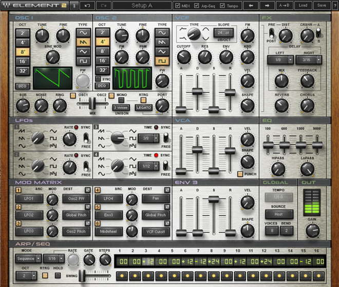 Element 2.0 Virtual Analog Synth