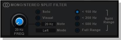 Mono/Stereo Split Filter