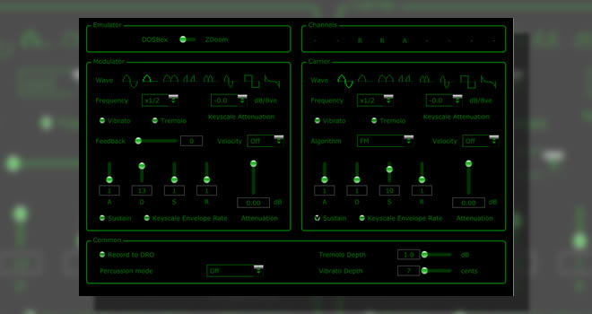 JuceOPLVSTi Free FM Synthesizer VSTi Plugin