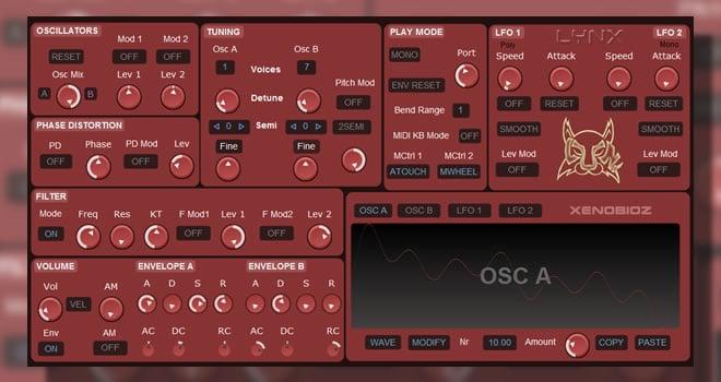Lynx Free Synthesizer VSTi Plugin