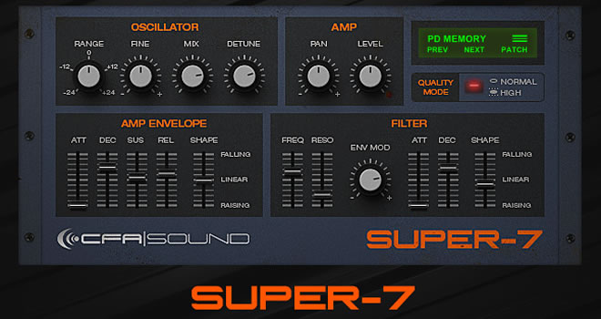 Super-7 Free VST Synthesizer
