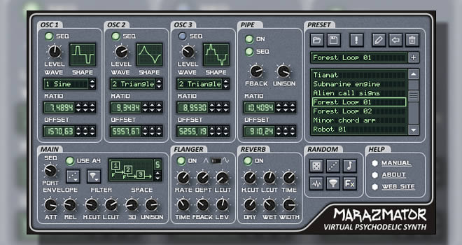 Marazmator Free Virtual Synthesizer