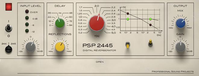PSP 2445 Reverb Effect Plugin