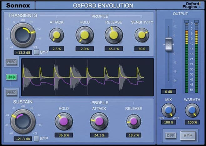Oxford Envolution Transient Shaper Plugin