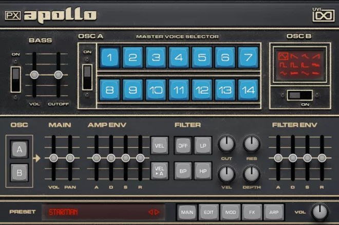 PX Apollo Polyphonic Synthesizer Plugin