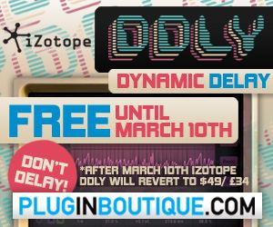 Free DDLY Dynamic Delay by iZotope