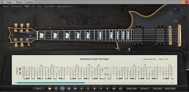 AME Tab Player Panel