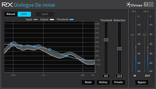 RX Dialogue De-noise Plug-in