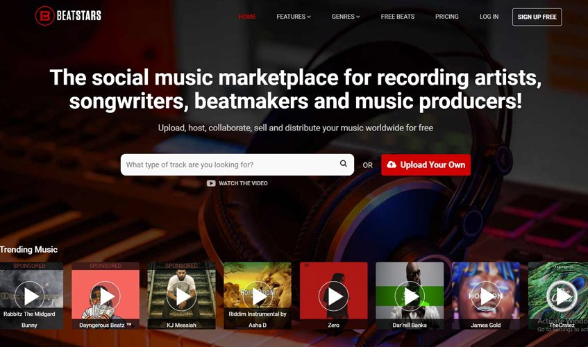Beatstars.com Selling Hip Hop Beats