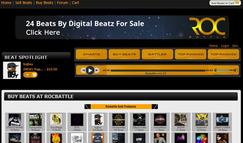Rocbattle Sell Beats Online