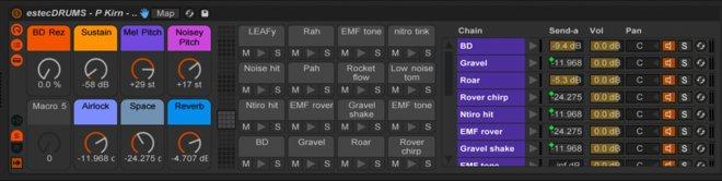 Free estecDRUMS Ableton Drum Kit